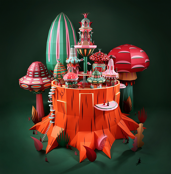 phongluudesign_creative_papervillage_1